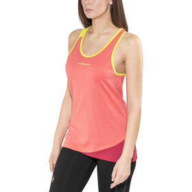 La Sportiva Dihedral Top sin Mangas Mujer, coral/berry